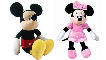 Pack 2 Peluches Disney Mickey y MINNIE MOUSSE supersoft 30 cms de pie / 20 cm