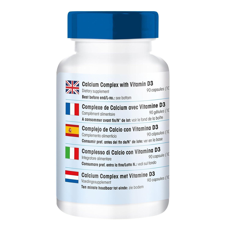 90 cápsulas vegetarianas de complejo de calcio con vitamina D3 y ...