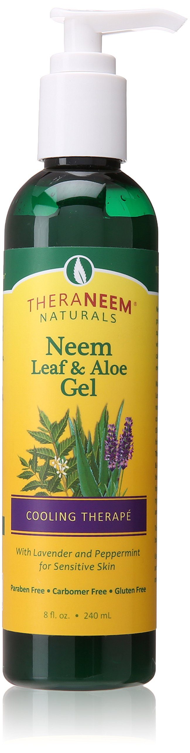 Theraneem Neem Leaf and Aloe Gel, Lavender and Mint, 8 Ounce