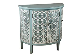 Pulaski Adelle 4 Doors Demilune Chest, 34 By 16 By 34 Inch, Multi
