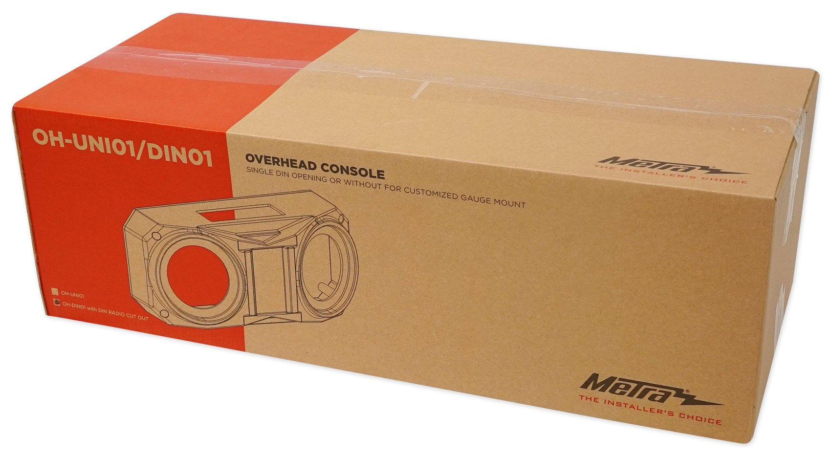 Metra OH-DIN01 6.5'' Overhead Speaker+Receiver Enclosure Polaris RZR/ATV/UTV/Cart by Metra (Image #7)
