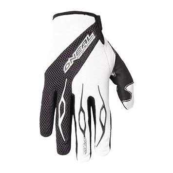 O'Neal Element Glove Handschuhe Schwarz Weiß Moto cross Enduro Downhill Mountain Bike MTB DH, 0398 20, Größe Large