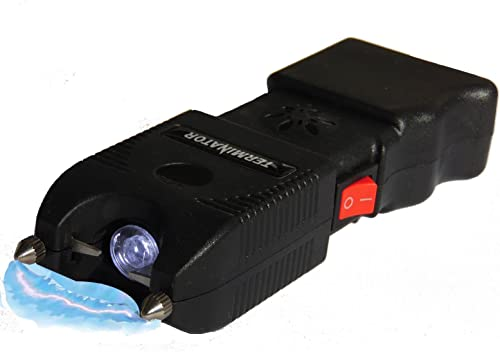 TERMINATOR SGTA – 980,000,000 Stun Gun – Super Powerful Bright Durable Flashlight Rechargeable Stun Gun with Siren