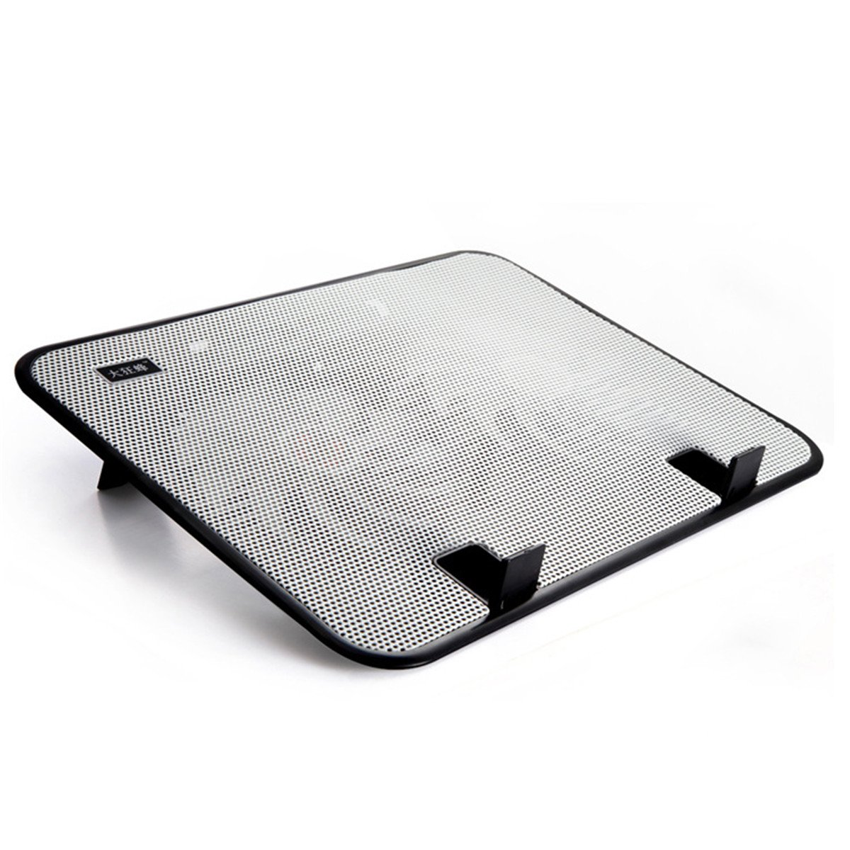 Laptop Cooler, Metal Mesh Surface 2 Quiet Fans 1 USB Ports Lap Desk Air Cooling Pad, Mat for 12'' 13'' 14'' inch (White) by CHRISTYZHANG (Image #1)