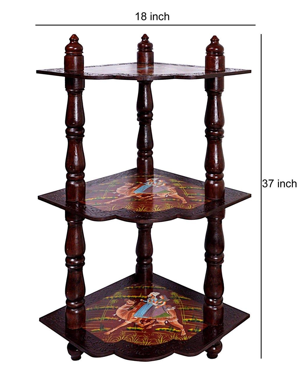 faite à la main en bois peint Table de rangement de coin pour le salon