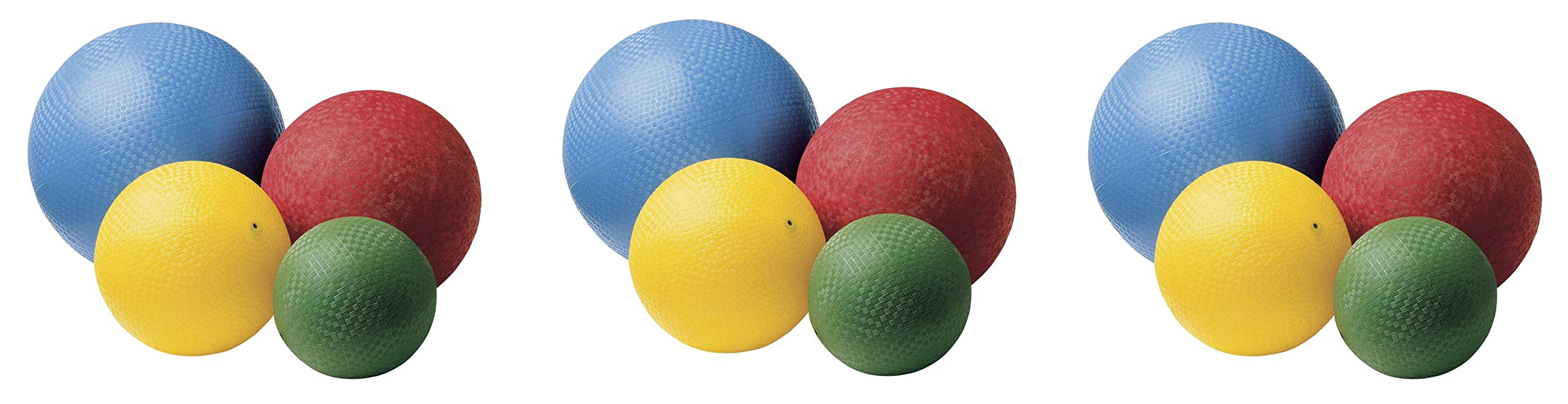 Sportime Rubber Playground Ball Set, Assorted Size, Assorted Color, Set of 12 (3-Pack) by Sportime