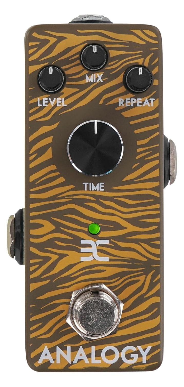 ENO XT-AD10 Analogy Delay Effektpedal (Echo-Effekt im Stompbox-Format, fü r Delays bis 600 ms, robustes Metall-Gehä use) Braun