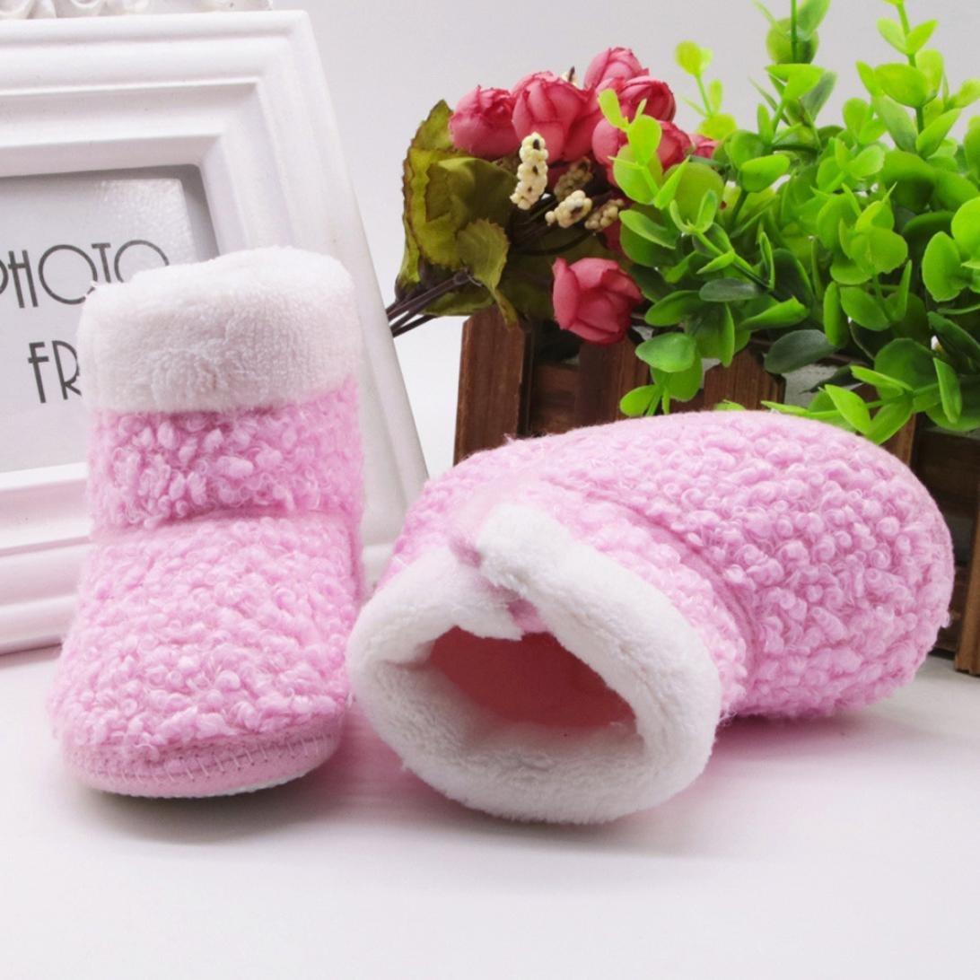 Witspace Infant Baby Boys Girls Soft Sole Snow Boots Newborn Kids Crib Prewalker Warming Shoes