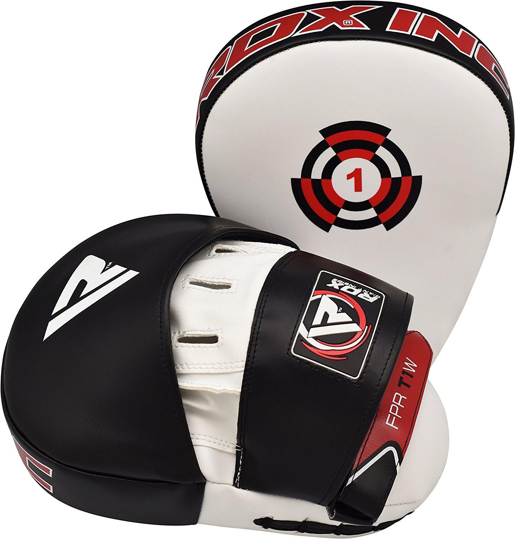 RDX MMA Artes Marciales Escudo Boxeo Paos Mano Patada Entrenamiento Pad Manoplas Segunda Piel Convexa Esto Se Vende como Cada Elemento