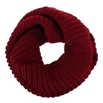 6079c968f463 Fletion Femmes Hommes tricotage Echarpes en laine Chaude hiver épais tricoté  écharpe Snood châle Circle Loop  Amazon.fr  Sports et Loisirs