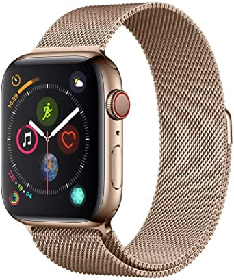 Apple Watch Series 4 (GPS + Cellular, 44mm) - Gold Stainless Steel Case with Gold Milanese Loop