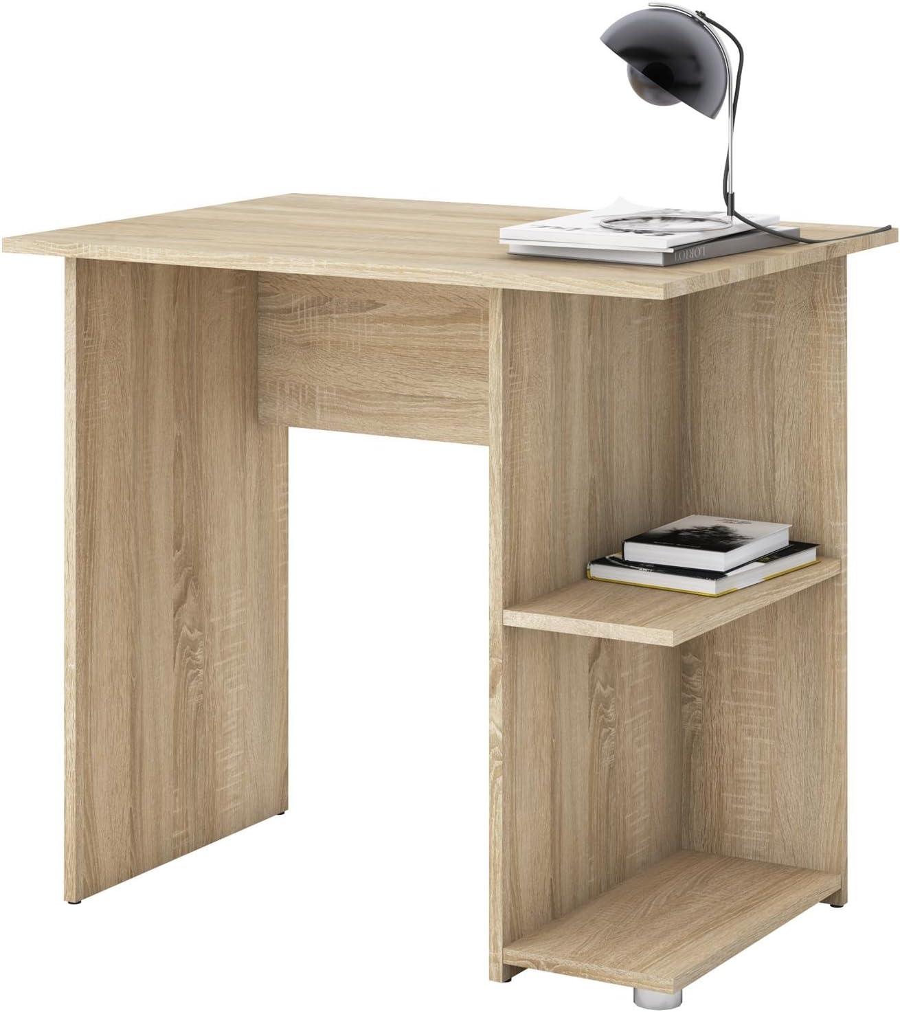 Escritorio Mesa IDIMEX Cuba en roble sonoma, con 2 estantes, 82 x 76 x 60 cm, Oficina Mesa: Amazon.es: Juguetes y juegos