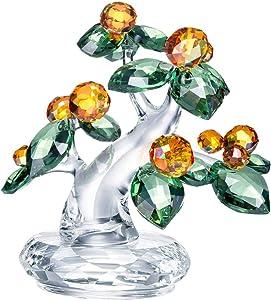SWAROVSKI Crystal Authentic Asian Icons Kumquat Tree - Modern Table and Shelf Decor - Living Room Decorative Glass Accessory