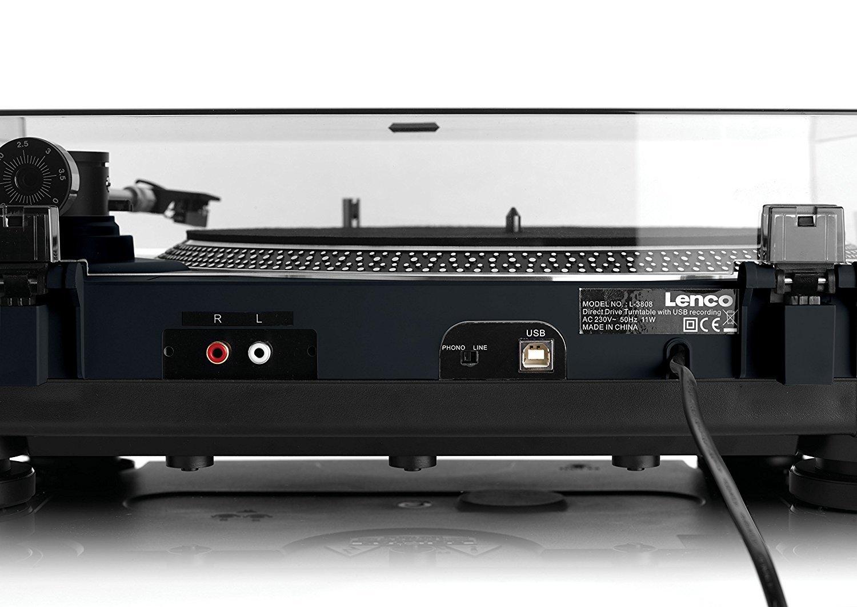 Lenco L-400 - Tocadiscos (Tocadiscos de tracción Directa, Manual, Negro, Aluminio, 33,45 RPM, DC Motor)