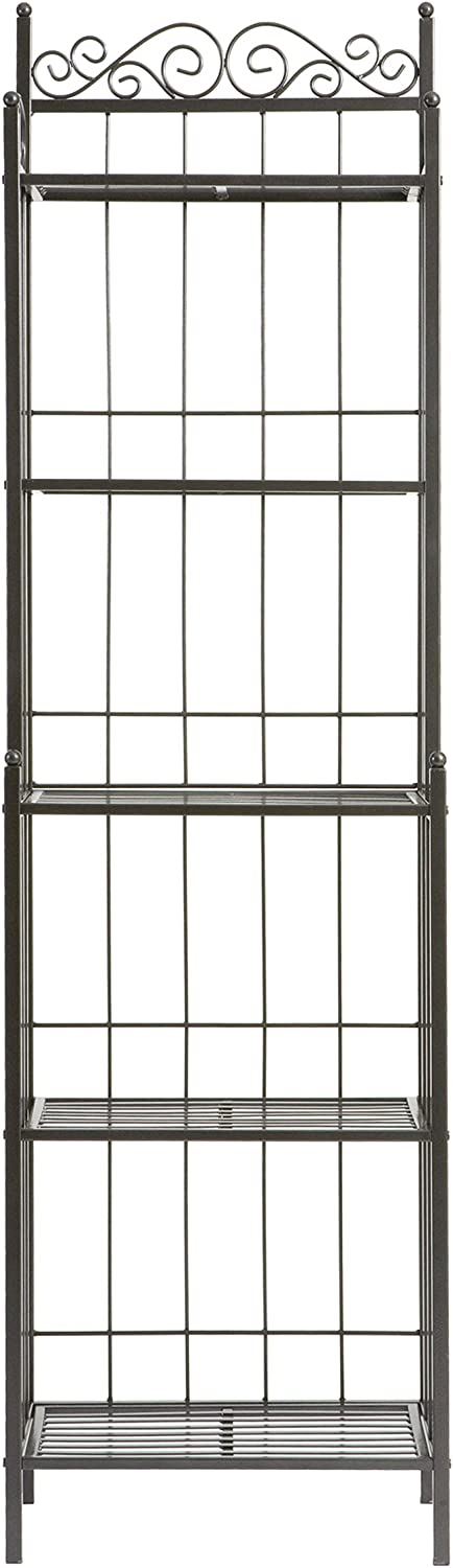 Home Decorators Collection Celtic Metal Baker' s Rack, 69.25Hx19.5W, Grey - Standing Baker's Racks