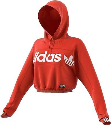 adidas Hoodie Cropped - Sweatshirts Mujer: Amazon.es: Ropa y ...