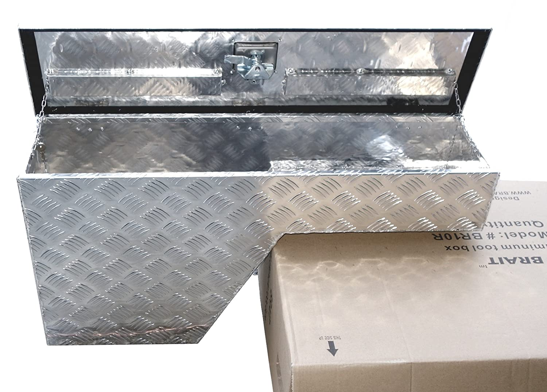Brait BR10LB 38 Pork Chop Fender Well Tool Box Aluminum Left//Driver Side Black