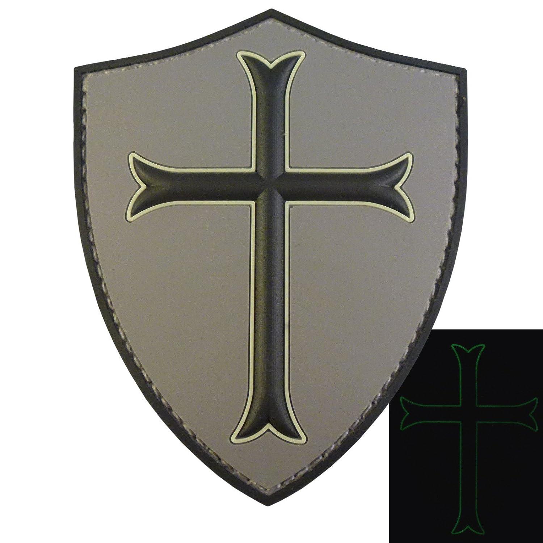 ACU US Navy Seals DEVGRU Crusaders Templar Knight Cross GITD Morale PVC 3D Touch Fastener Aufnä her Patch 2AFTER1 P.1759.2.V