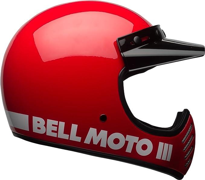 Amazon.com: Bell Moto-3 Off-Road Motorcycle Helmet (Classic Gloss Red, Medium): Automotive