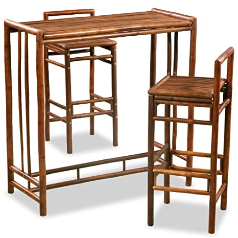 Tavoli E Sedie Per Bar Esterno.Festnight Set Da Bar Alto Da Giardino Esterno Bambu Set Tavolo E