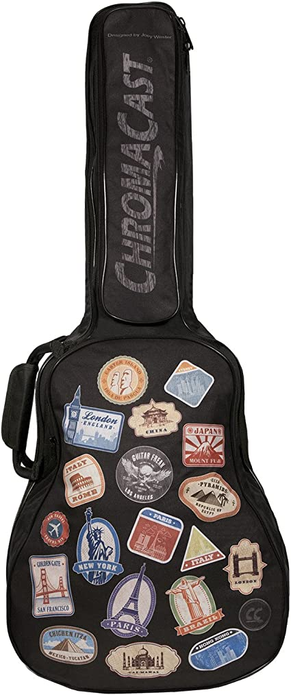 ChromaCast World Tour Graphic Two Pocket 3//4 Size Acoustic Guitar Padded Gig ...