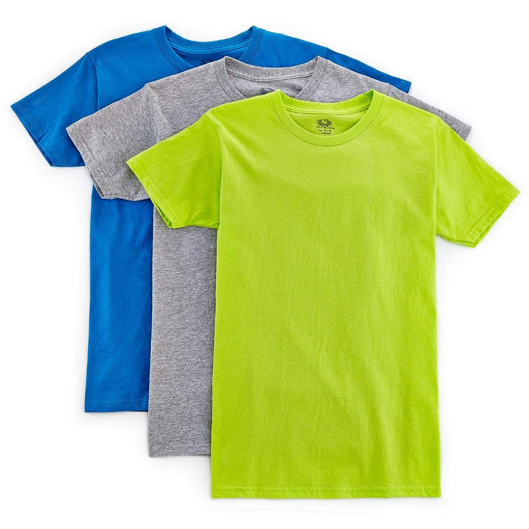 Fruit of the Loom Big Toddler Boys Crew Tee 535B Pack of 3 525T