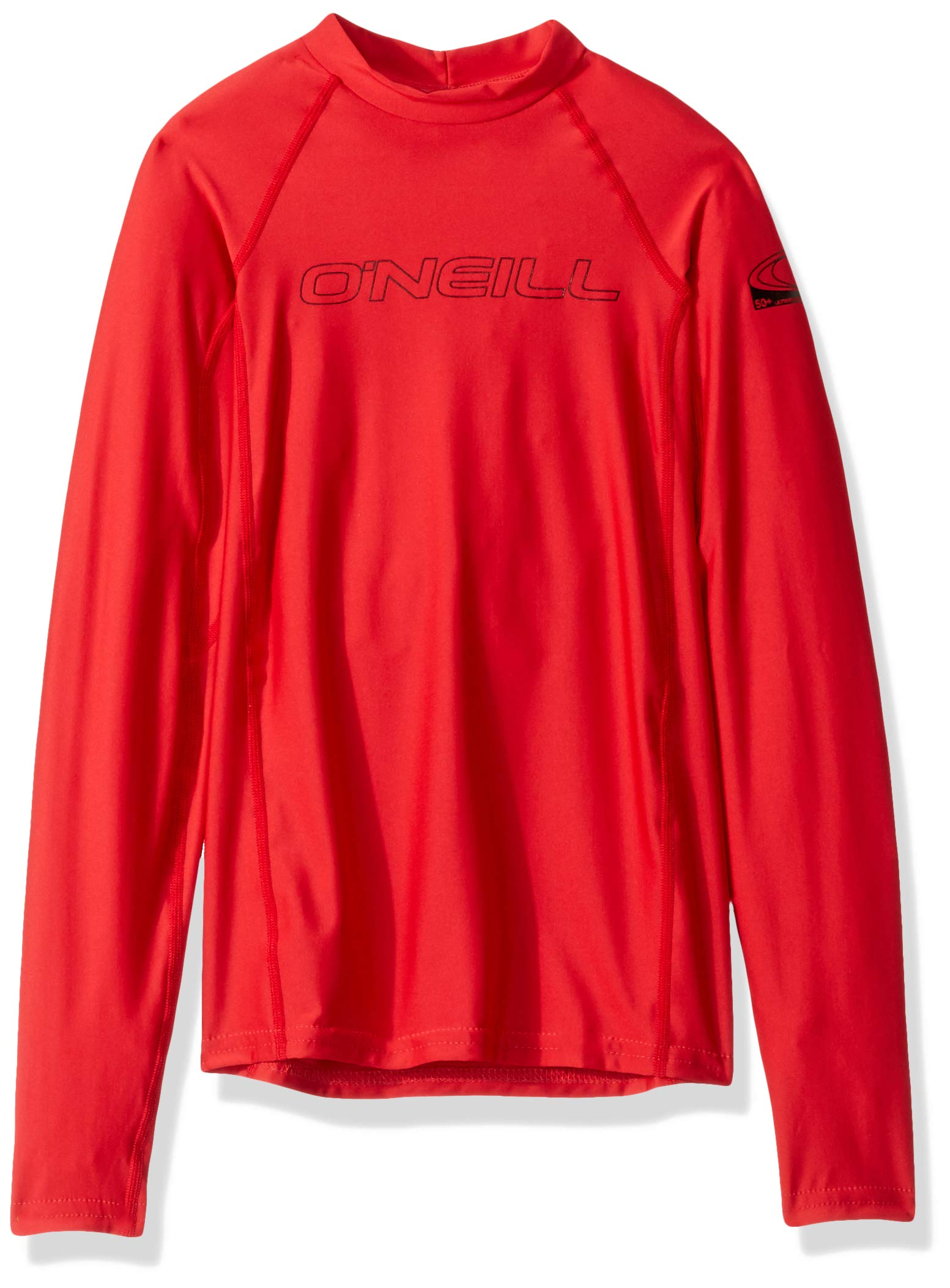 O'Neill Wetsuits Youth Basic Skins UPF 50+ Long Sleeve Sun Shirt, Red, Size 6 by O'Neill Wetsuits