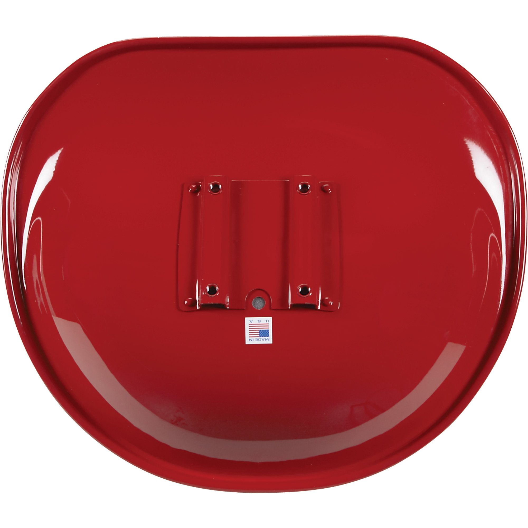 K & M Pan Seat for IH Tractors - Red and White, Model Number 7181 by K & M