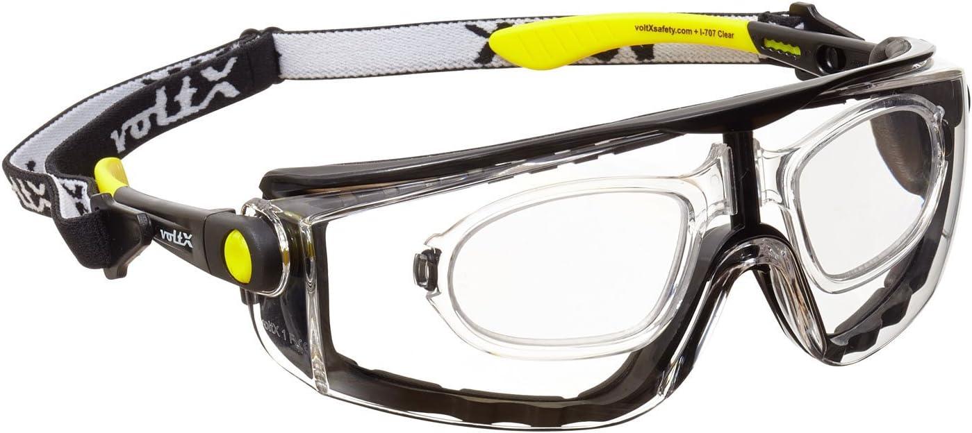 voltX 'QUAD' 4 in 1 (TRANSPARENTE dioptría +2.0) Lectura Segura Gafas de Lectura de Seguridad con Lentes de Aumento Completos - con inserción de espuma y diadema - certificación CE EN166f
