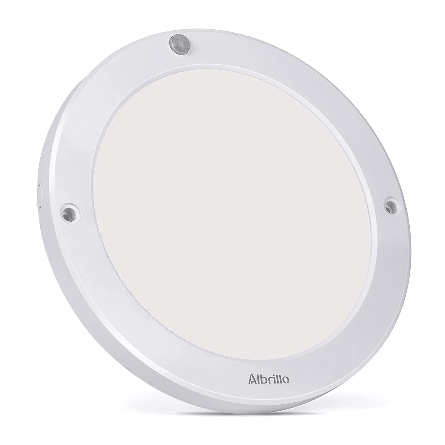 Motion Sensor Ceiling Light 100 Watt Equivalent - Albrillo Indoor Outdoor LED Ceiling Lights for Stairs Closet Room Basement Hallway 1200lm Warm White