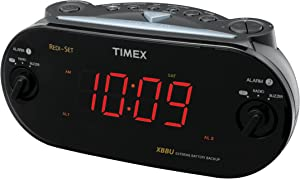 Timex T715BW3 Dual Alarm Clock Radio (Black)