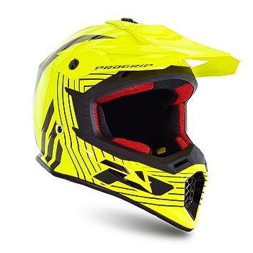 Progrip Motocross Casco, Yellow Fluo/Black, tamaño XS