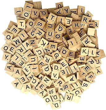 1000 Scrabble Tiles - NEW Scrabble Letters - Wood Pieces - 10 Complete Sets - Great for Crafts, Pendants, Spelling by CashBasisEnterprises: Amazon.es: Juguetes y juegos