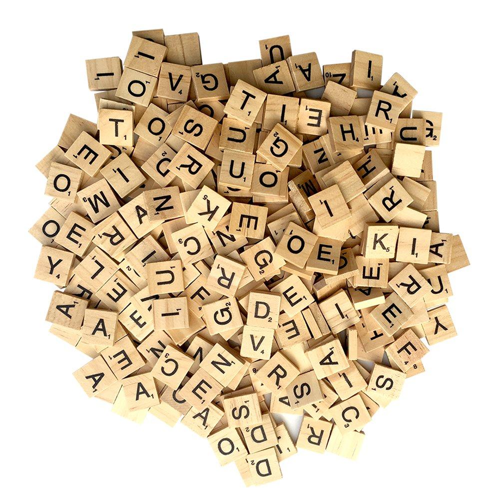 Amazon.com: Maggift Wooden Letter Tiles (300 Pieces): Toys & Games