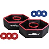 "Win SPORTS Premium Washer Toss Game Set - (2) 12"" x 12"" Folding Targets & 6 Washer Discs - Portable Fun - Perfect for…"