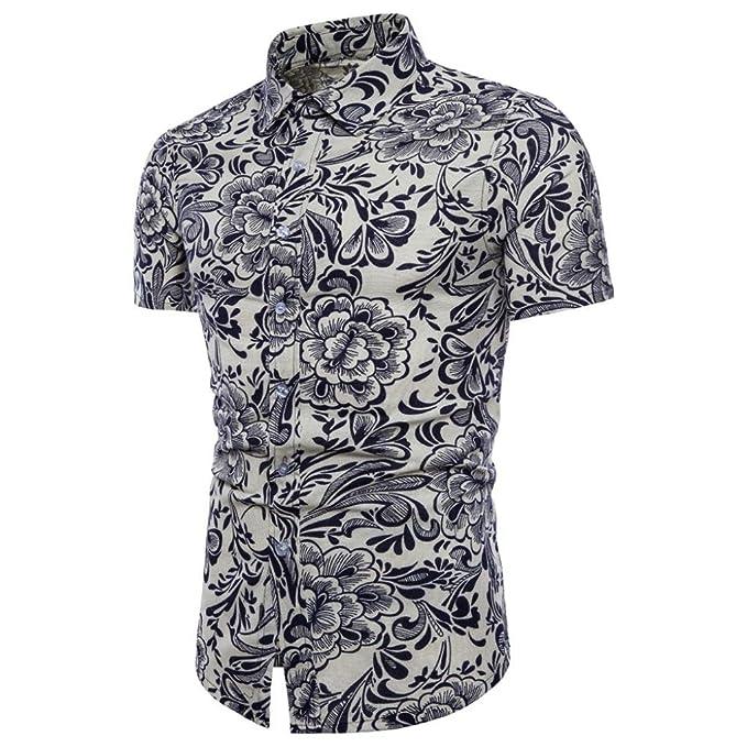 Cinnamou Camisa Hombre, Camisetas Casuales de Impresión de Tallas Grandes Verano Camiseta de Manga Corta de Algodón Niños…
