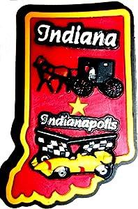 Indiana Indianapolis Multi Color Fridge Magnet