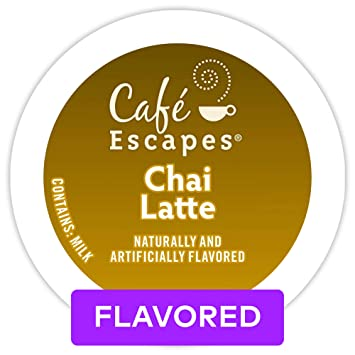 Cafe Escapes Chai Latte Single Serve Coffee K Cup Pod Flavored Coffee 72