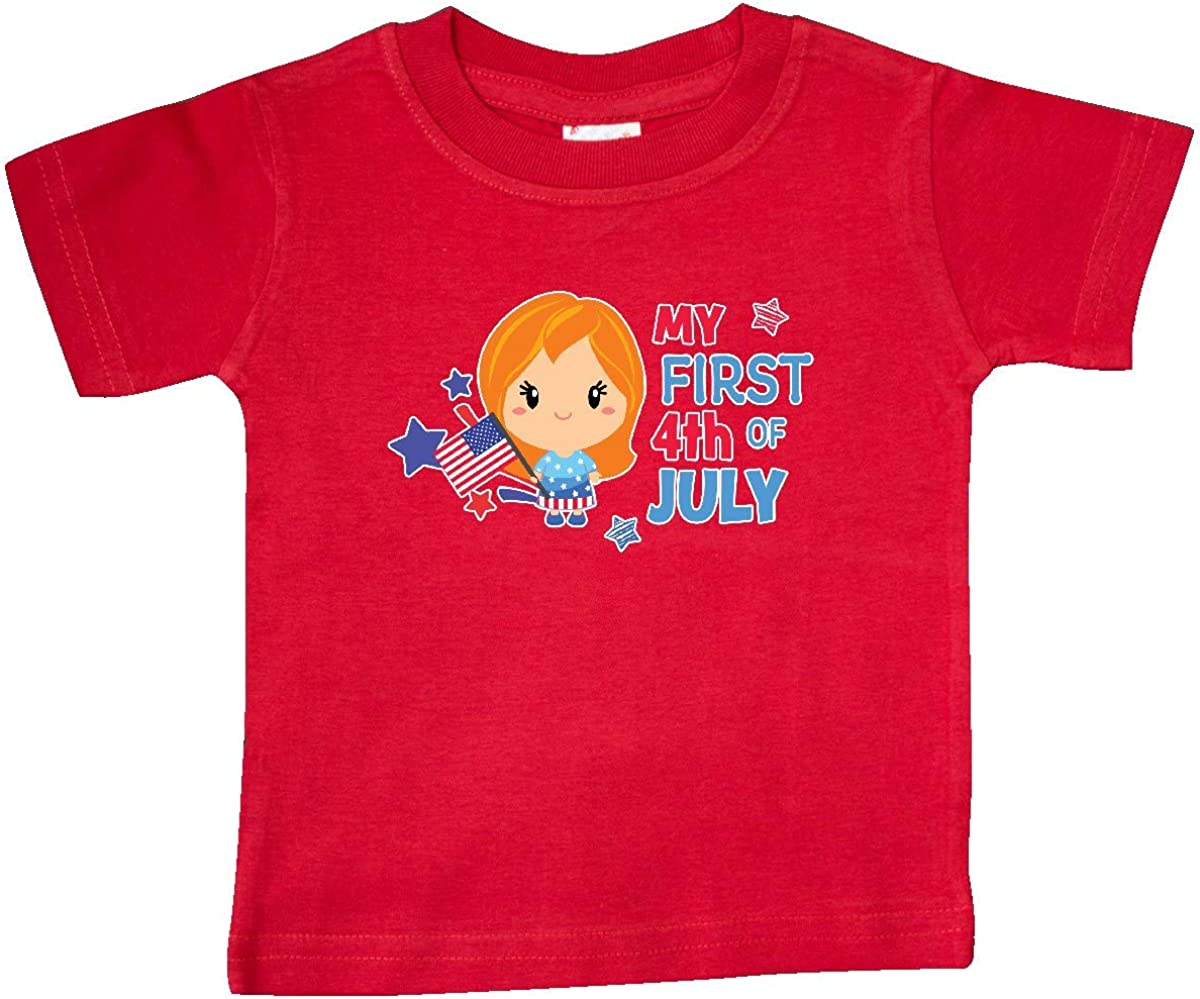 inktastic Babys 1st 4th of July Girl Toddler T-Shirt