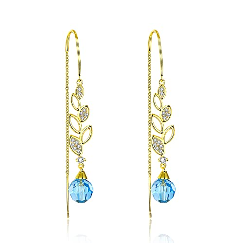 Buy Yellow Chimes Crystals From Swarovski Blue Wine 22k Real Gold