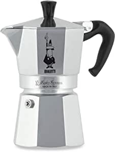 Bialetti 1164 Moka Express Coffee Maker, 4 Cup, Aluminum, CM435