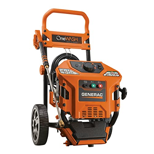 1. Generac 6602 OneWash 4-In-1 PowerDial 3,100 PSI 2.8 GPM 212cc OHV Gas Powered Residential Pressure Washer