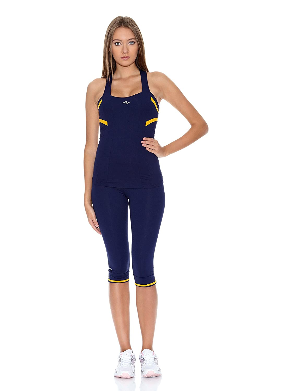 Naffta Camiseta Tenis/Padel Azul Marino/Mostaza S: Amazon.es: Ropa ...