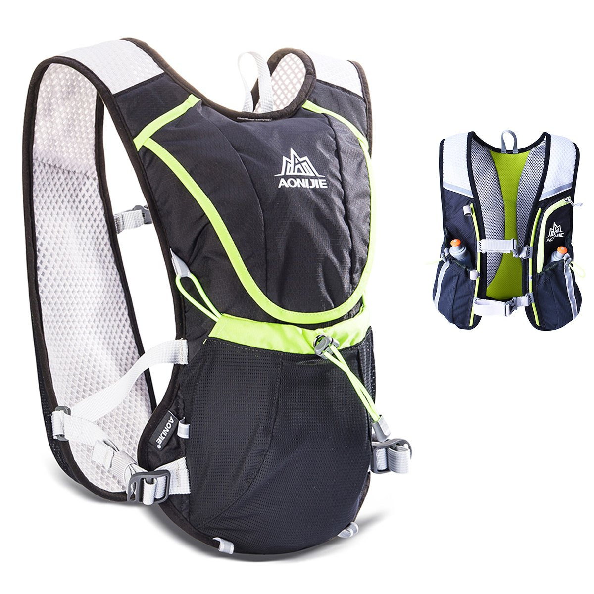 TRIWONDER Hydration Pack Backpack Professional 8L Outdoors Mochilas Trail Marathoner Running Race Cycling Hydration Vest (Black - Only Vest)