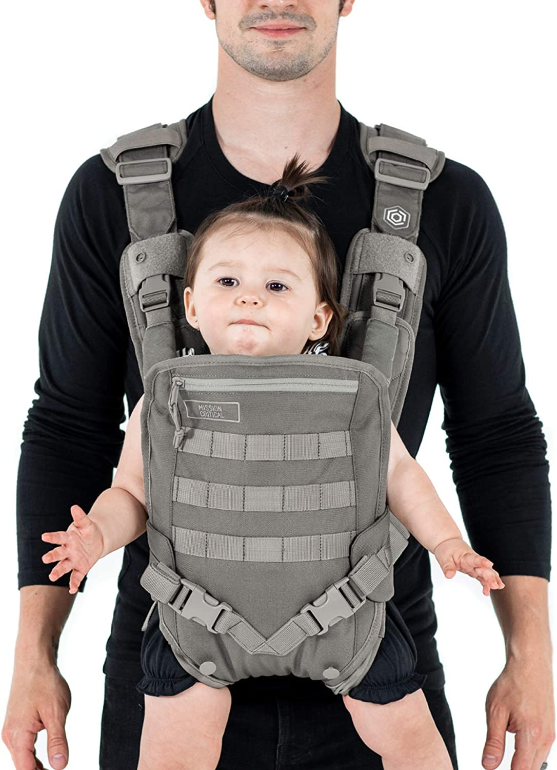 Mens Baby Carrier Baby Carrier for Dads By Mission Critical Front Baby Carrier Gray