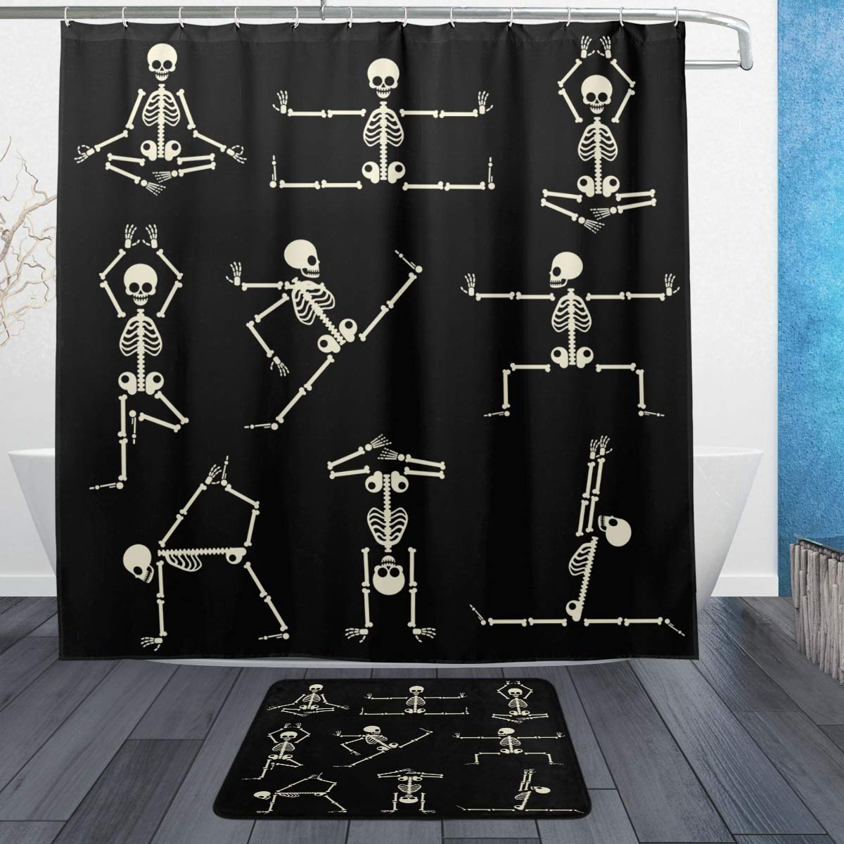Amazon.com: SZZWY Kung Fu Yoga Skeletons Human Pose ...