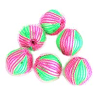 Cosanter 6 Stück Fusselbälle Mini-Waschbälle 3.5 cm Haarentfernung Bälle für Waschmaschinen