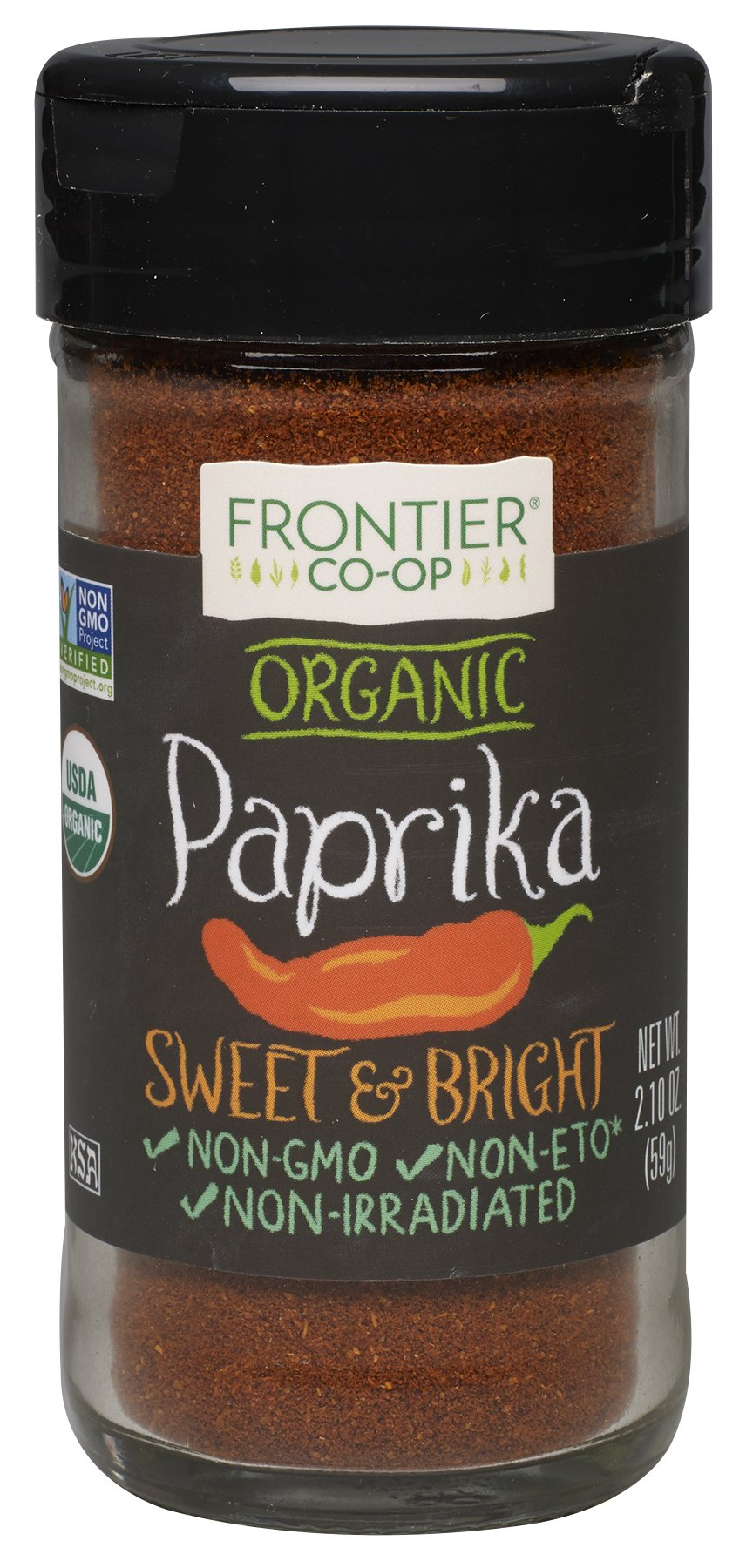 Frontier Spices, Organic Ground Paprika, 2.1 Ounce (Pack of 3)