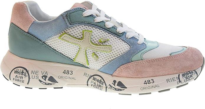PREMIATA Zapatos Mujer Zapatillas Bajas Zac-Zac-D_3733 Talla 36 Bianco Multi: Amazon.es: Zapatos y complementos