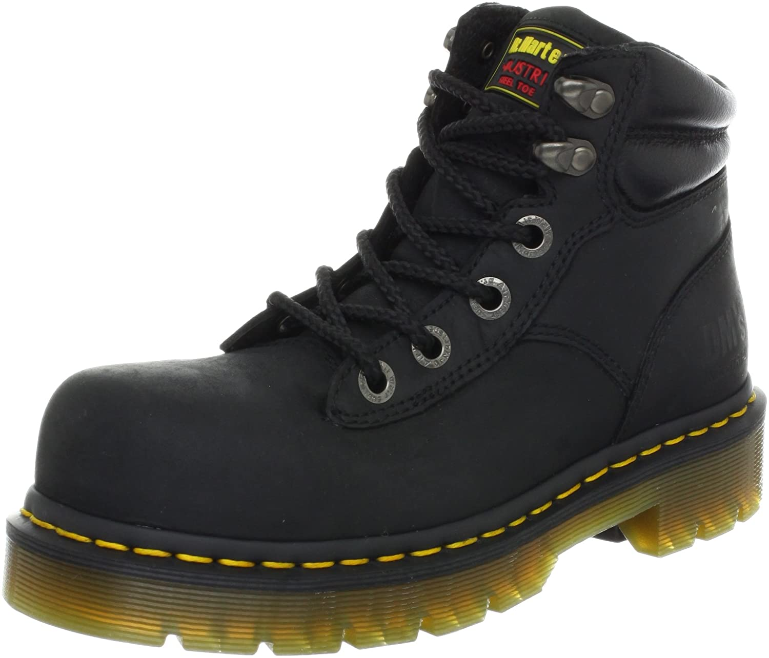 Dr. Martens Burham ST Work Boot B005EBRTAO 5 UK/7 M US Women's/6 M US Men's|Black Industrial Greasy